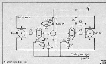 BF981 Mosfet tunable RF preamplifier